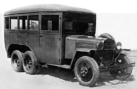 1943 GAZ-05-193 staff bus, 6x6