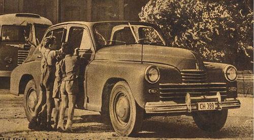1953 gaz m20 kabrio