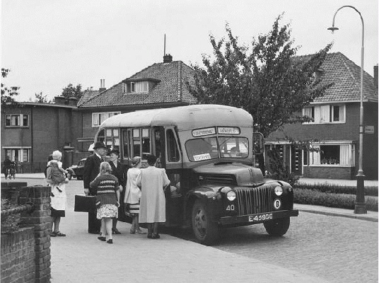 1958 Ford type Schoolbus nr. 40 met carrosserie van Wayne (Amerika).