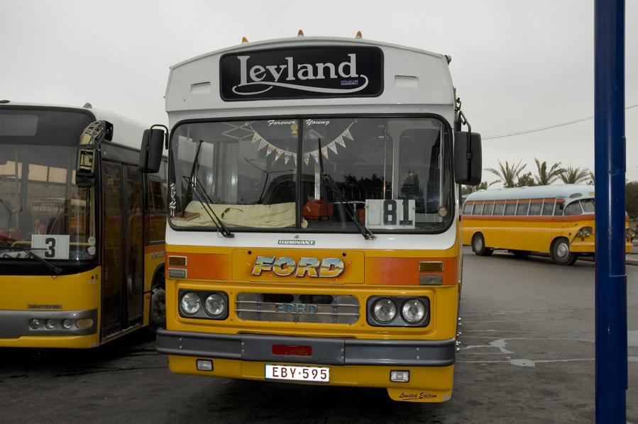 Malta Bus, Leyland Ford, Valletta Bus Terminal