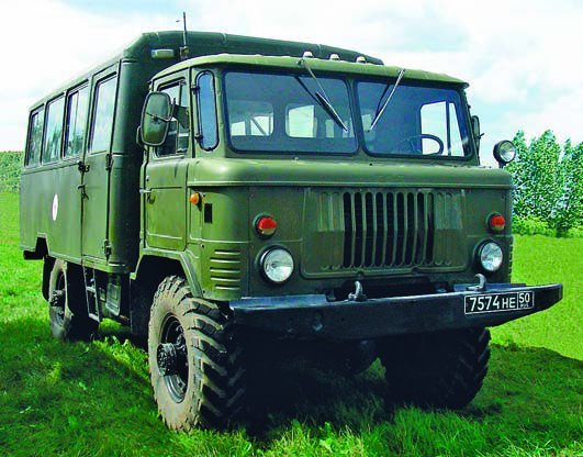 1989 Ambulance GAZ-66 chassis, 4x4, with AS 66 01MT Ambulance Bus