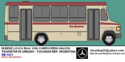 1996 RB-1421 M.BENZ LO 814 CARROCERIA GALICIA Argentina