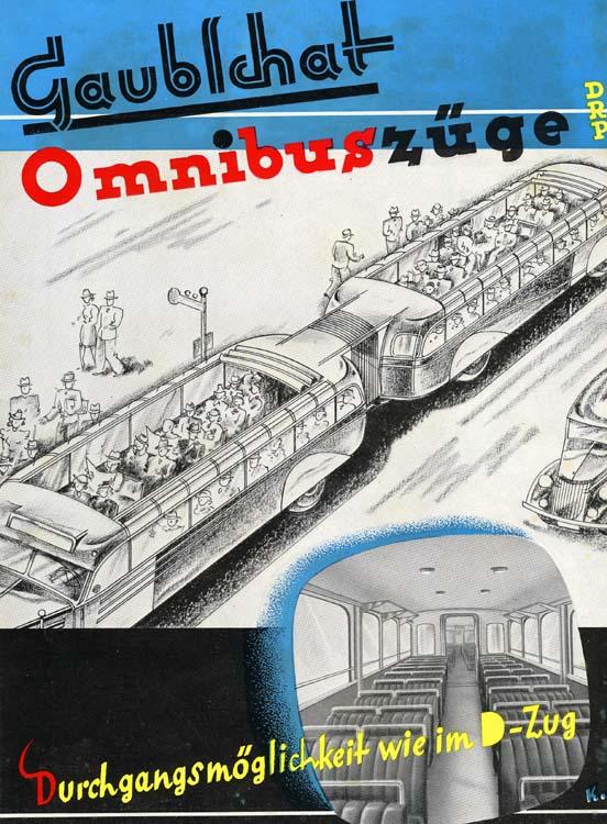 Gaubschat Omnibuszüg Durchgangsmöglichkeit wie im D-Zug