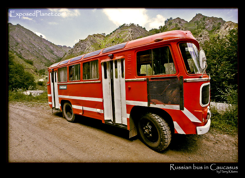 GAZ russian-red-bus-caucasus