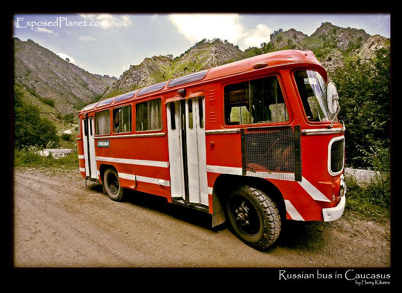 GAZ russian-red-bus-caucasus