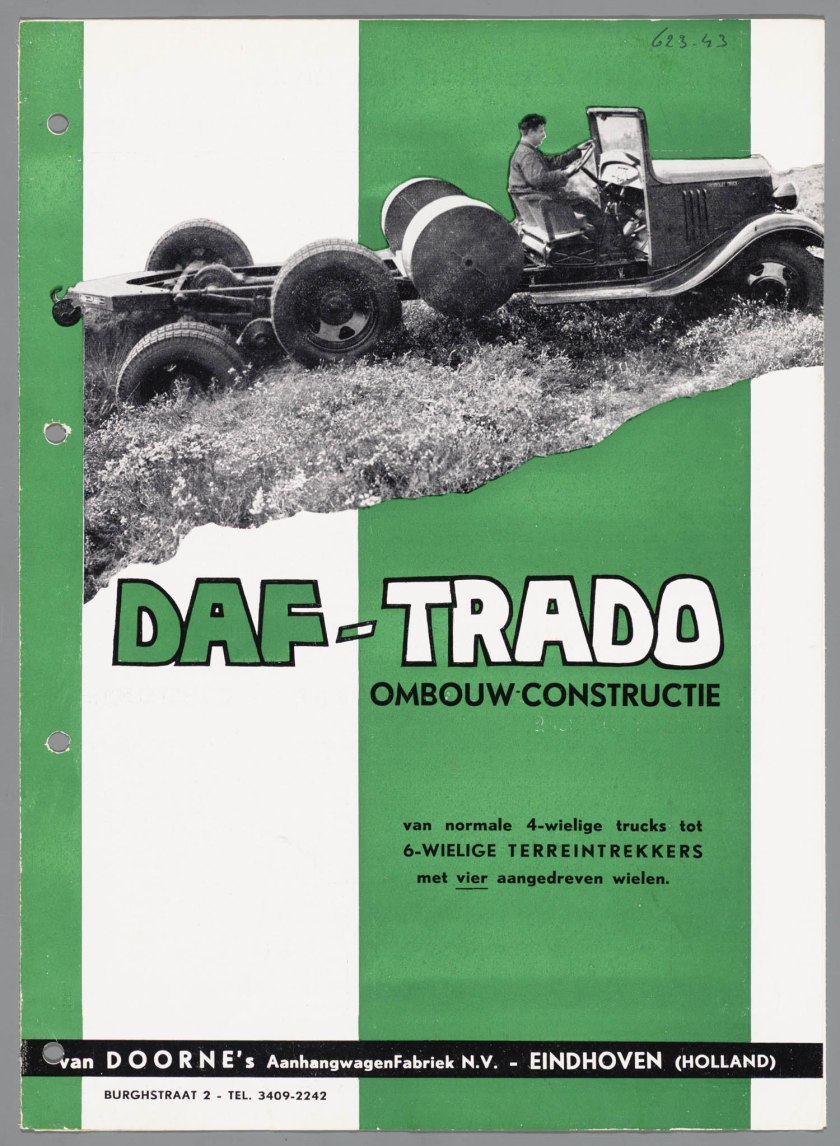 1934 DAF Trado ombouwconstructie a
