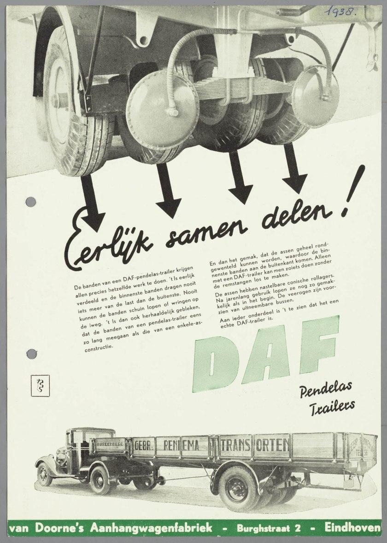 1938 DAF Pendelas-trailers
