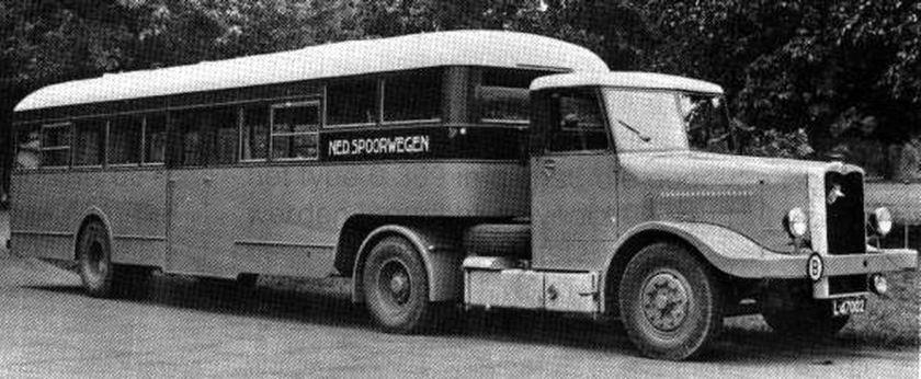 1946 Daf met oplegger