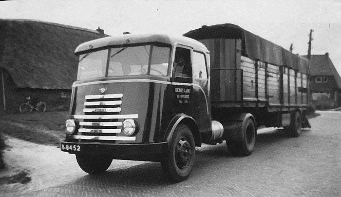1948 DAF A50 5-tonner. Een echte zevenstreper B-8452A