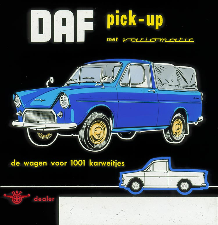 1950-75 DAF 750 pick-up ad