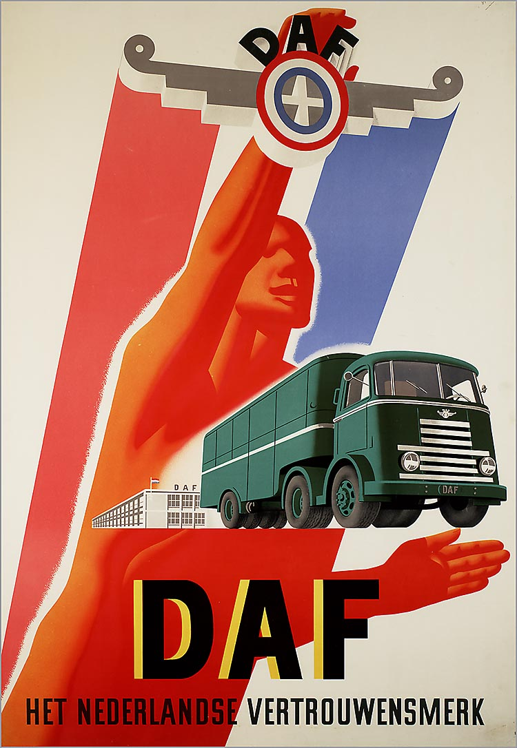 1950-75 DAF Het Nederlandse vertrouwensmerk affiche