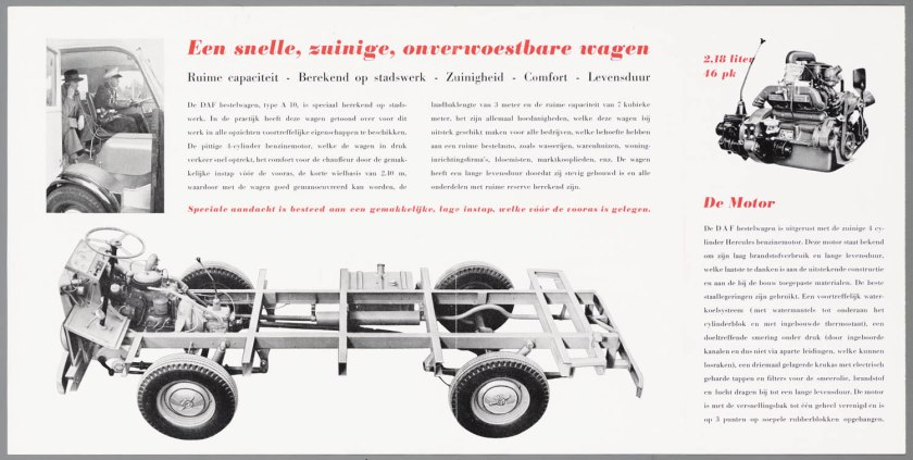 1950 DAF A10 bestelwagen b