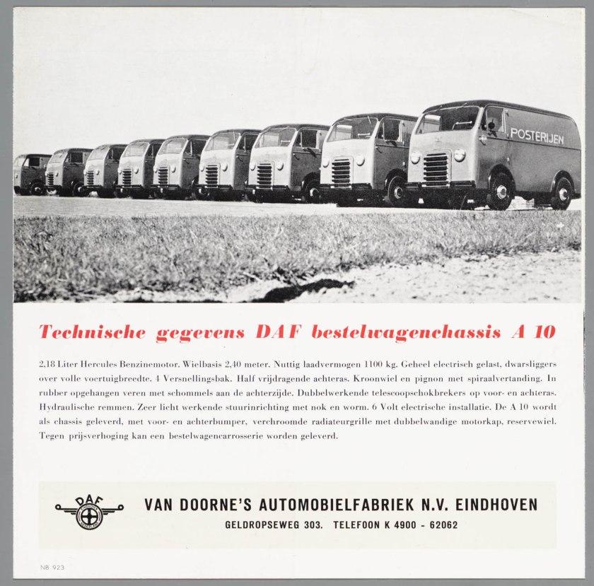 1950 DAF A10 bestelwagen c