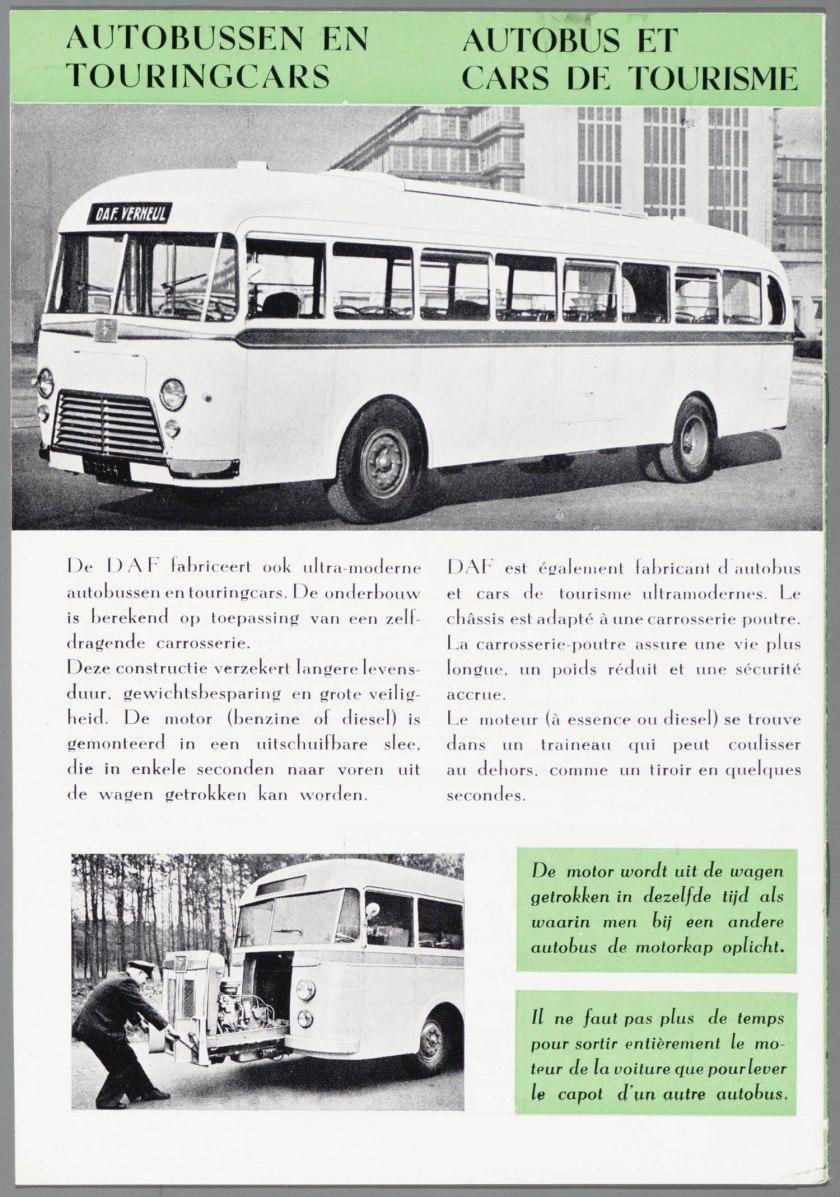1950 DAF Autobus et Cars de Tourisme