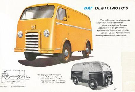 1950 DAF Bestelauto folder