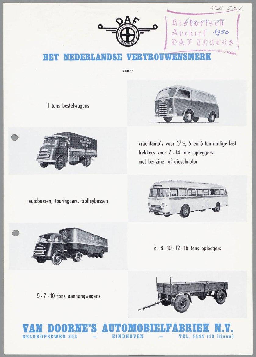 1950 DAF Programma