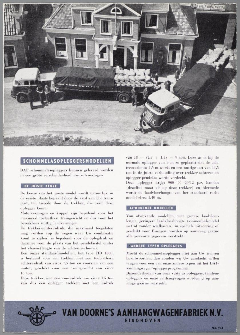 1950 DAF Schommelas-opleggers serie HD d
