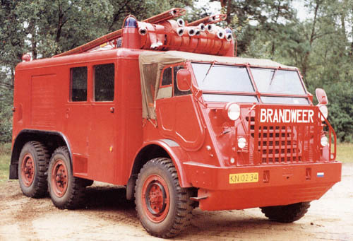 1952 Brandweer Trucks DAF YA328 fire 10403