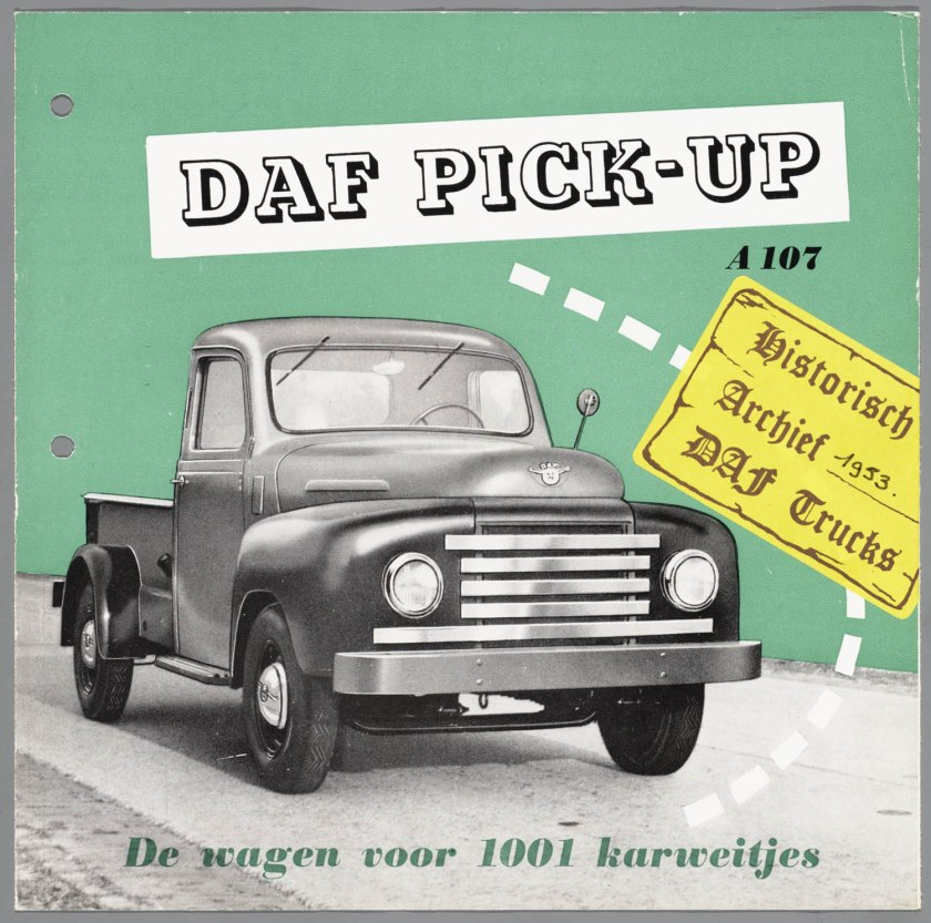1953 DAF A 107 Pick Up a