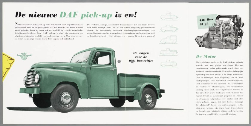 1953 DAF A 107 Pick Up b