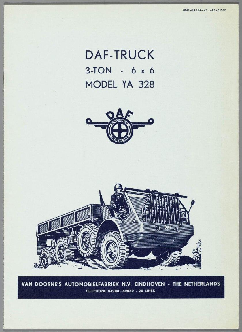 1953 DAF YA 328 6wielige tereinwagen a