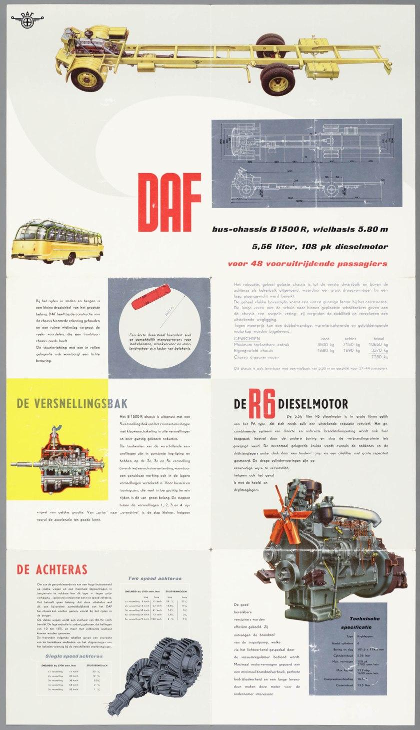 1954 DAF B 1500R c