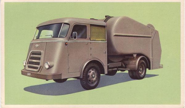 1955 DAF ansicht-vuilnisauto