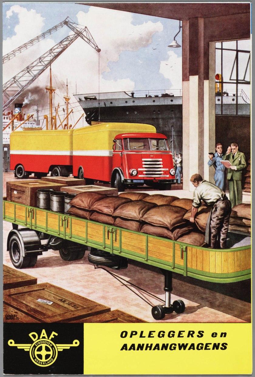 1955 DAF Opleggers en Aanhangwagens
