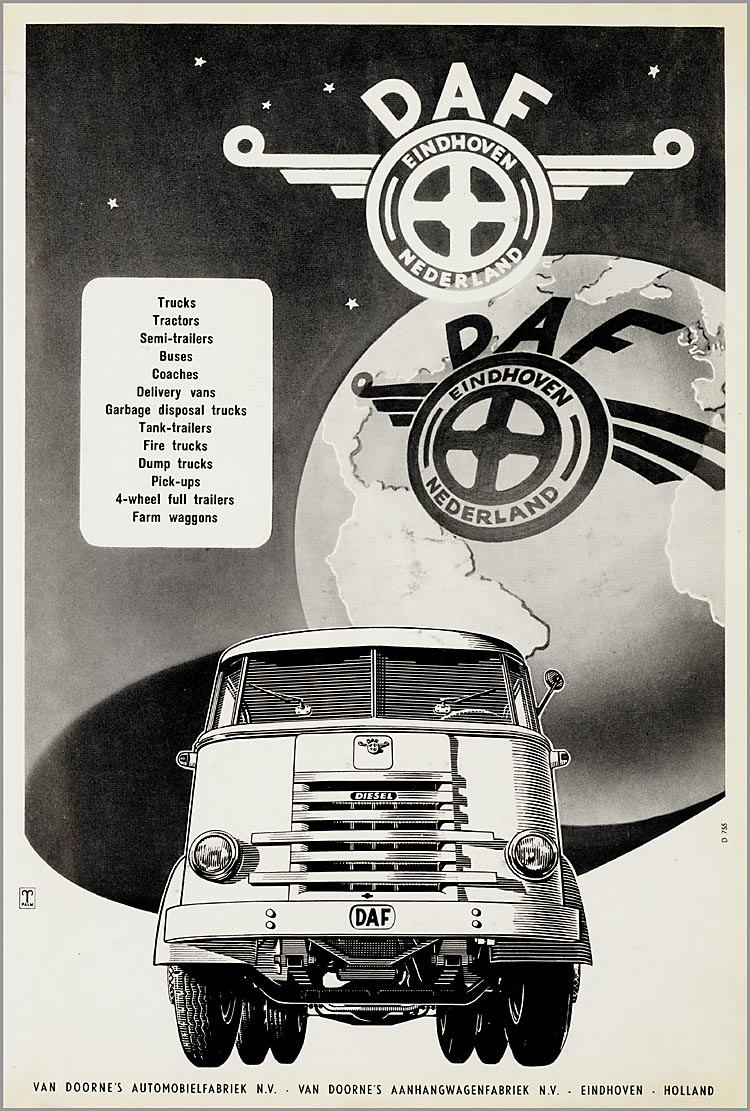 1957-58 DAF Advertentieplakboek a