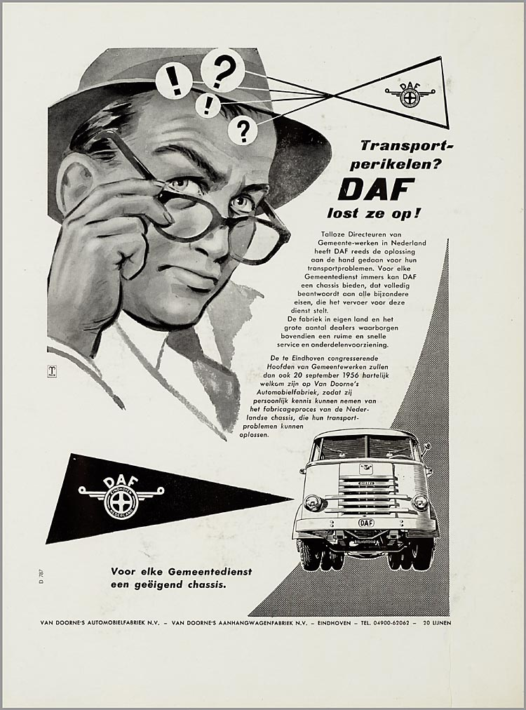 1957-58 DAF Advertentieplakboek b