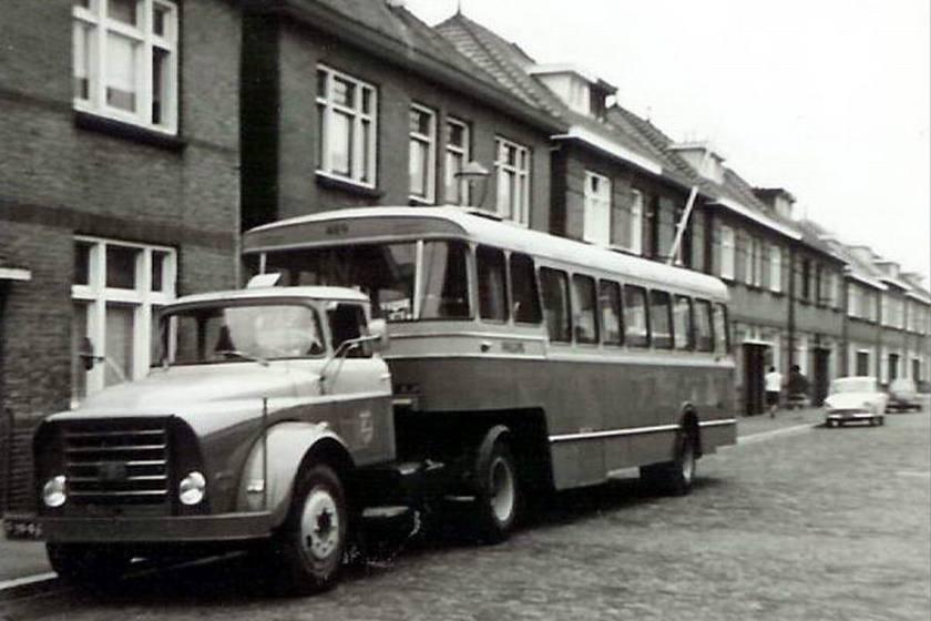 1957 Daf Torpedo met Bus oplegger