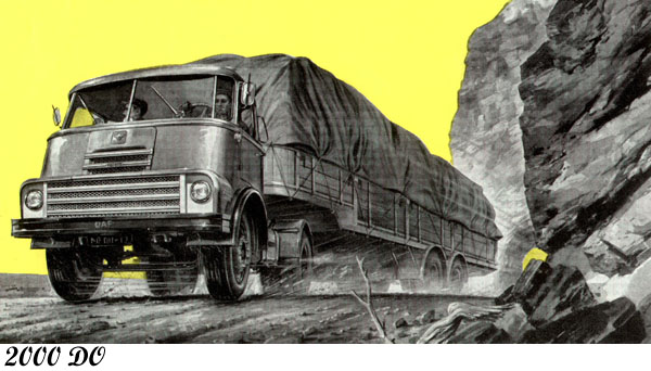 1958 DAF 2000 do  tekening