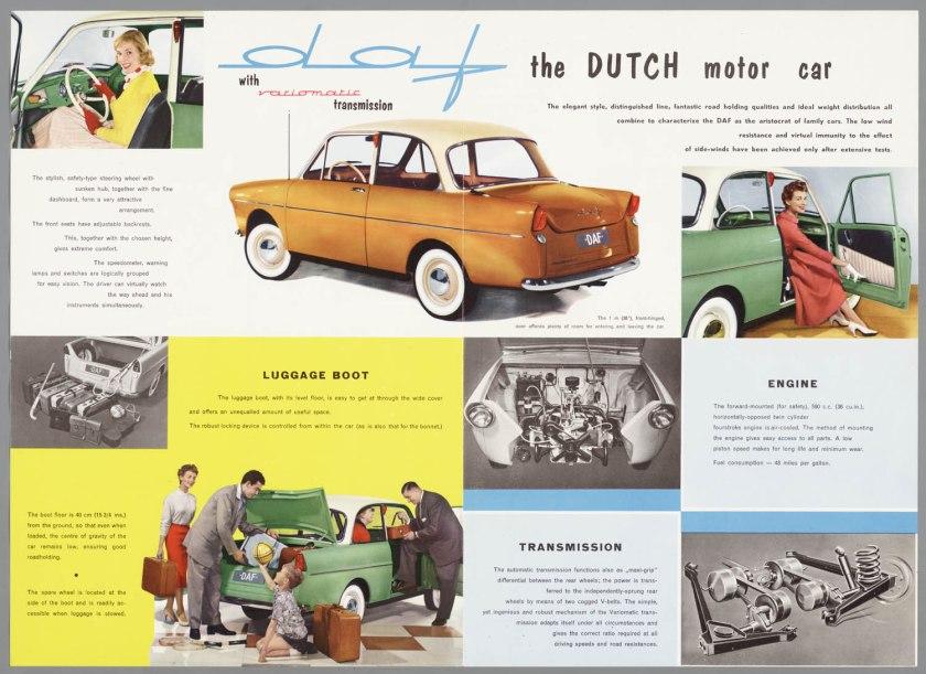 1958 DAF 600 with varimatic transmission c