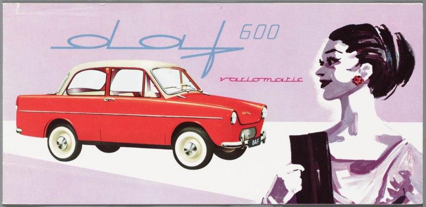 1959 DAF 600 Variomatic Standaard & Luxe Brochure