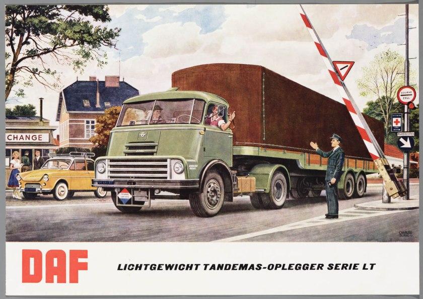 1960 DAF Lichtgewicht Tandemas-Oplegger Serie LT