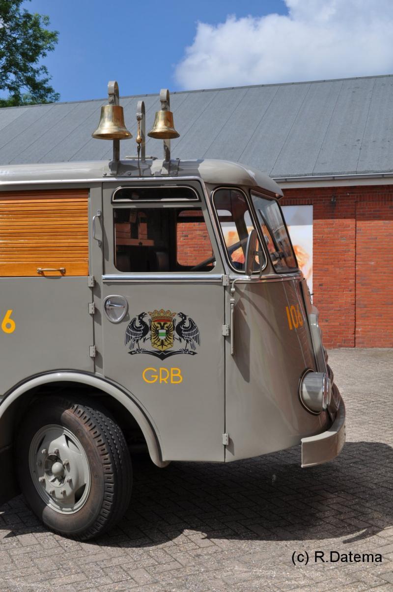 1960 DAF roltrommel vuilniswagen