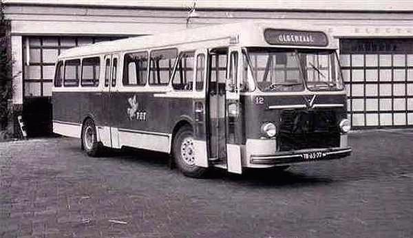1960 Daf TB160 12 met carrosserie van Verheul.