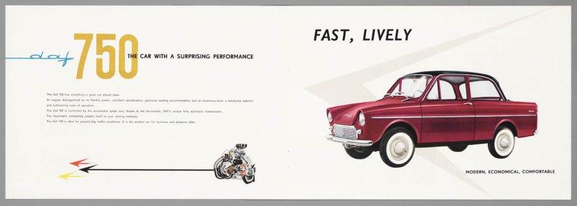 1962 DAF 750 Standaard & Luxe b