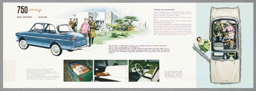 1962 DAF 750 Standaard & Luxe c