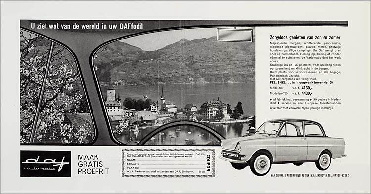 1963-68 DAF Advertentieplakboek a