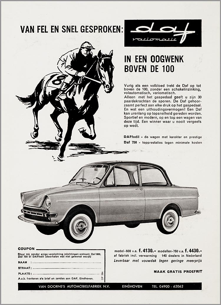 1963-68 DAF Advertentieplakboek