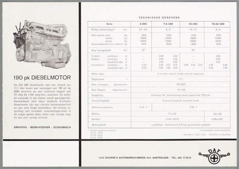 1965 DAF 2003-2300 d