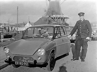 1965 DAF 33 PTT bezorger oud uniform