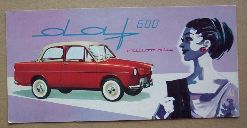 1965 DAF 600 Variomatic artwork