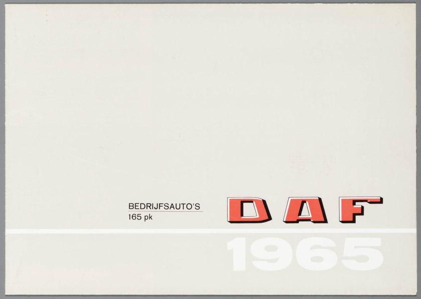 1965 DAF Bedrijfsauto's 165 PK a