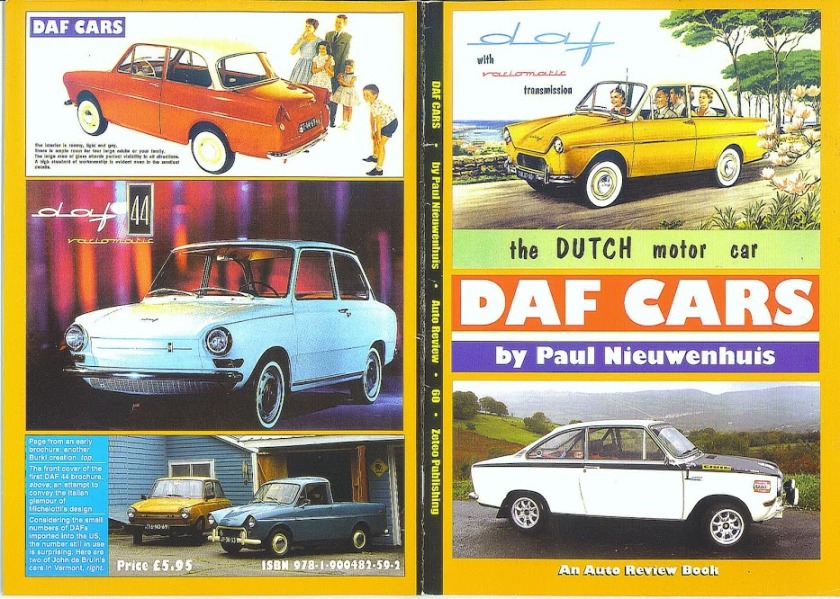 1965 DAF CARS Book by Paul N.