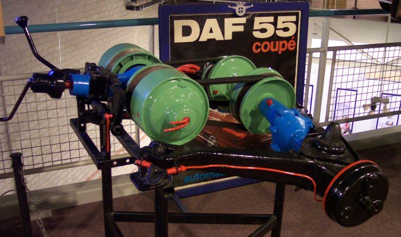 Achteras met Variomatic van een DAF 55 a