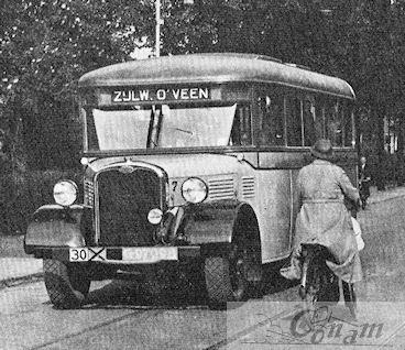 Bussen AS-Asjes 1932 Asjes(Alkmaar) carrosserie op A.S.Chassis