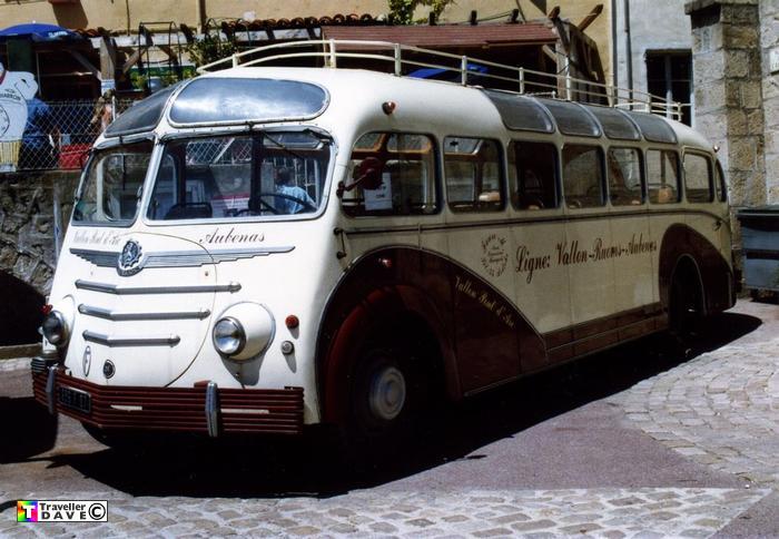 Bussen Autocar Isobloc 696DP07 (1948) W947DP . Ex-Faure