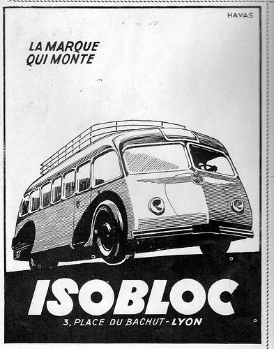 Bussen Autocar Isobloc avec Motor Ford V8 arriere 1946